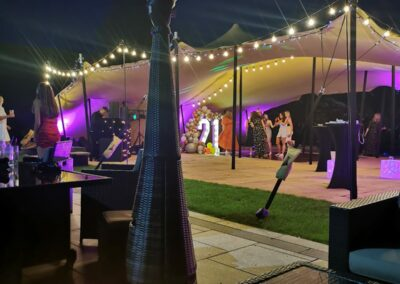 Stretch Tent Party by night